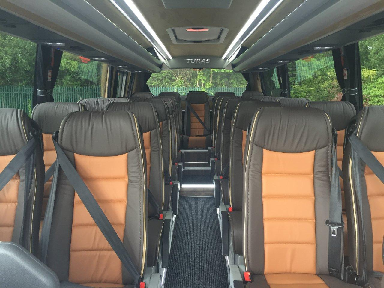 Inside 24 Seater Coach