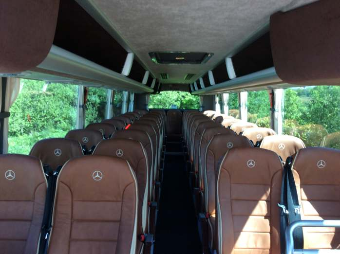 Inside 42 Seater Coach