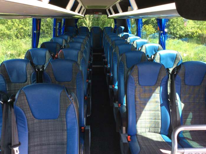 Inside 33 Seater Coach
